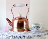 Lady's Vintage copper Kettle