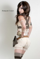 A. Nomaly's Crochet cream stretch knickers