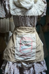 50%OFF!  Vintage sugar sack half apron. ON SALE!